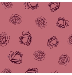 Seamless flowers pattern Nature background concept vector image