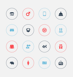 set of 16 editable business icons includes vector image vector image