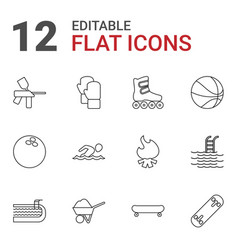 12 activity icons vector