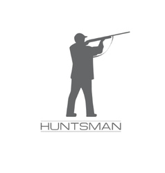 a hunstman aiming with the rifle vector image