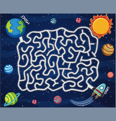 a space maze game template vector image