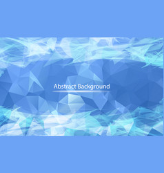 abstract blue white polygonal surface background vector image