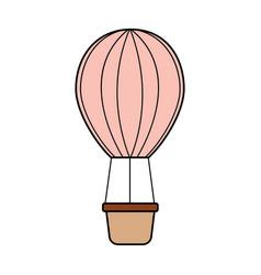 Air ballon romantic decoration image vector