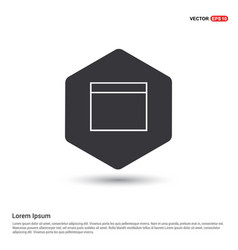 application window interface icon vector image