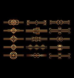 Art deco frames and borders vector