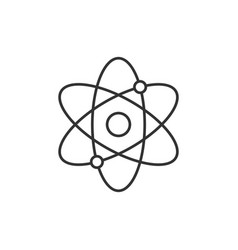 atomic structure line icon vector image