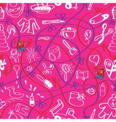 Baby pink wallpaper vector