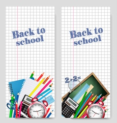 Back to school banner vector