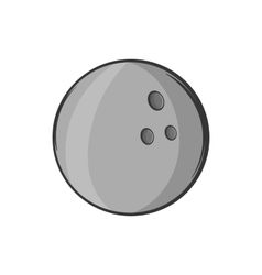 Bowling ball icon black monochrome style vector image