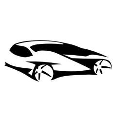 Car silhouette modern vector image