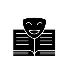 comedy black icon sign on isolated vector image