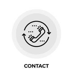 Contact Line Icon vector image