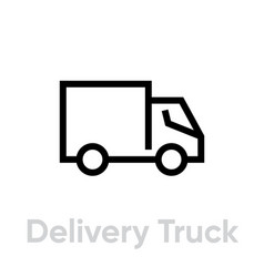 delivery truck icon editable line vector image