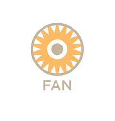 design fan logo company vector image