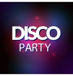 Disco lights mosaic round background vector image