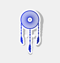 dream catcher sign new year bluish icon vector image