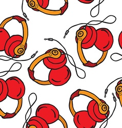 earphones pattern vector image