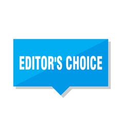 Editors choice price tag vector