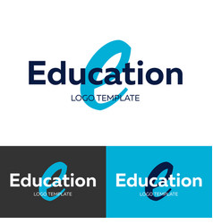 Education logo letter e logo logo vector
