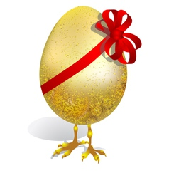egg with ribbon vector image