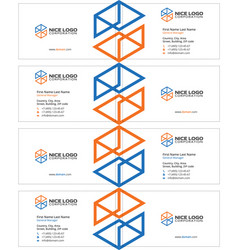 Engineering and construction business card light vector