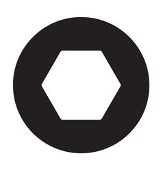 Fastener head iconblack icon vector