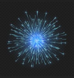 festive bright fireworks vector image