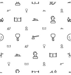 Figure icons pattern seamless white background vector
