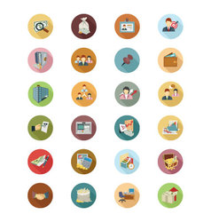 Financial Flat Colored Icons 3 vector
