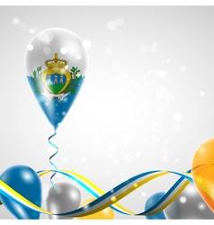 Flag of San Marino on balloon vector