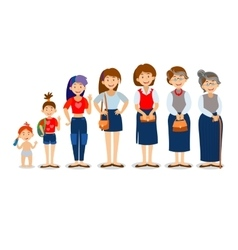 generations woman people at different vector image
