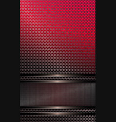 Geometric design of pink hue with metal grille and vector