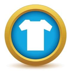 Gold tee shirt icon vector image