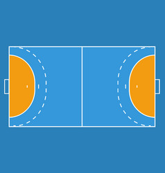 handball field background eps vector image