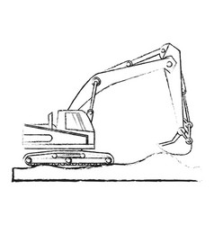Heavy construction machinery icon image vector