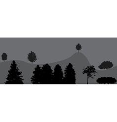 Image of Nature Tree Silhouette vector image