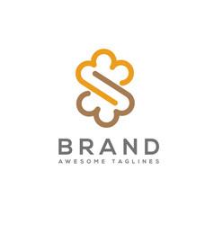 Infinity cloud letter s logo vector