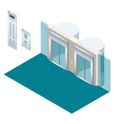 isometric elevator lift isometric interior vector image