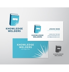 Knowledge Welders Education Abstract Logo vector image