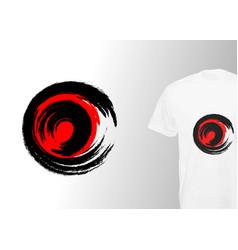 Logo round grunge print stylish t-shirt printing vector