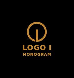 Luxury initial i logo design icon element isolated vector