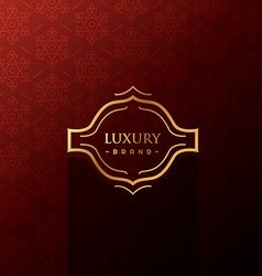 luxury label in red background vector image