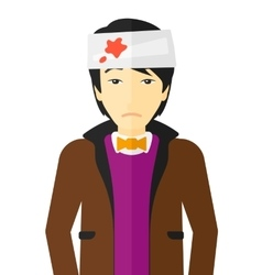 Man with injured head vector image