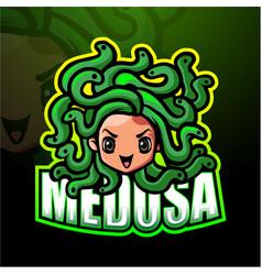 Medusa mascot esport logo design vector