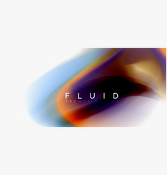 mixing liquid color flow abstract background vector image