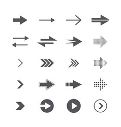 modern simple icons and logos set of arrows vector image