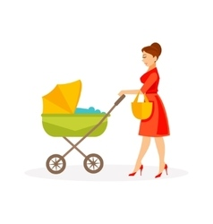 Mother with stroller vector image