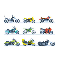 motorcycles sports tourist classic off-road vector image