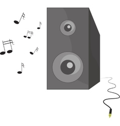 music playing speaker with vector image