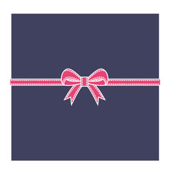 Navy blue box and pink bow vector image